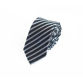 Tie slips tie slips 6cm svart grå randig Fabio Farini