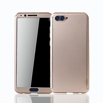 Huawei honor vista 10 móveis caso capa completa proteção-caso tanque proteção vidro ouro