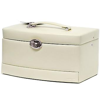 Jewellery case beige jewelry box jewelry box with mirror and travel case