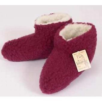 Bed shoes wool bordeaux 42/43