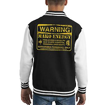 Warnung der Mako-Energie Final Fantasy VII Kid Varsity Jacket