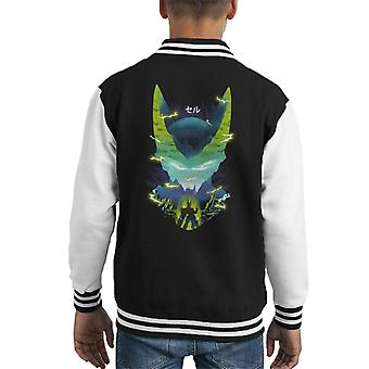 Cell Silhouette Dragon Ball Z Kid's Varsity Jacket