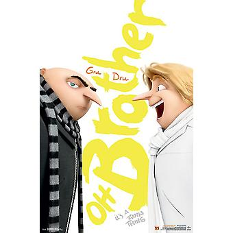 Despicable me 3 poster Dru & Gru, Oh brother
