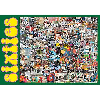 Sixties Memorabilia Collage 500 piece jigsaw puzzle 690mm x 480mm (jg)