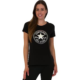 Converse Damen klare Folie Chuck Patch T-Shirt