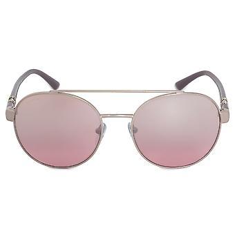 الجولة Bvlgari النظارات الشمسية BV6085B 20217E 55 | الإطار المعدني الفضي | عدسات الوردي