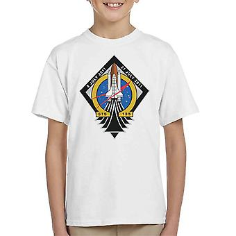 NASA STS 135 Space Shuttle Atlantis Mission Patch Kid's T-Shirt