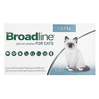 Broadline Spot-On Small Cats Under 5.5 lbs (2.5kg) - 3 Pack