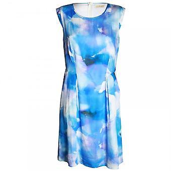 Vera Mont Sleeveless Water Colour Design Dress