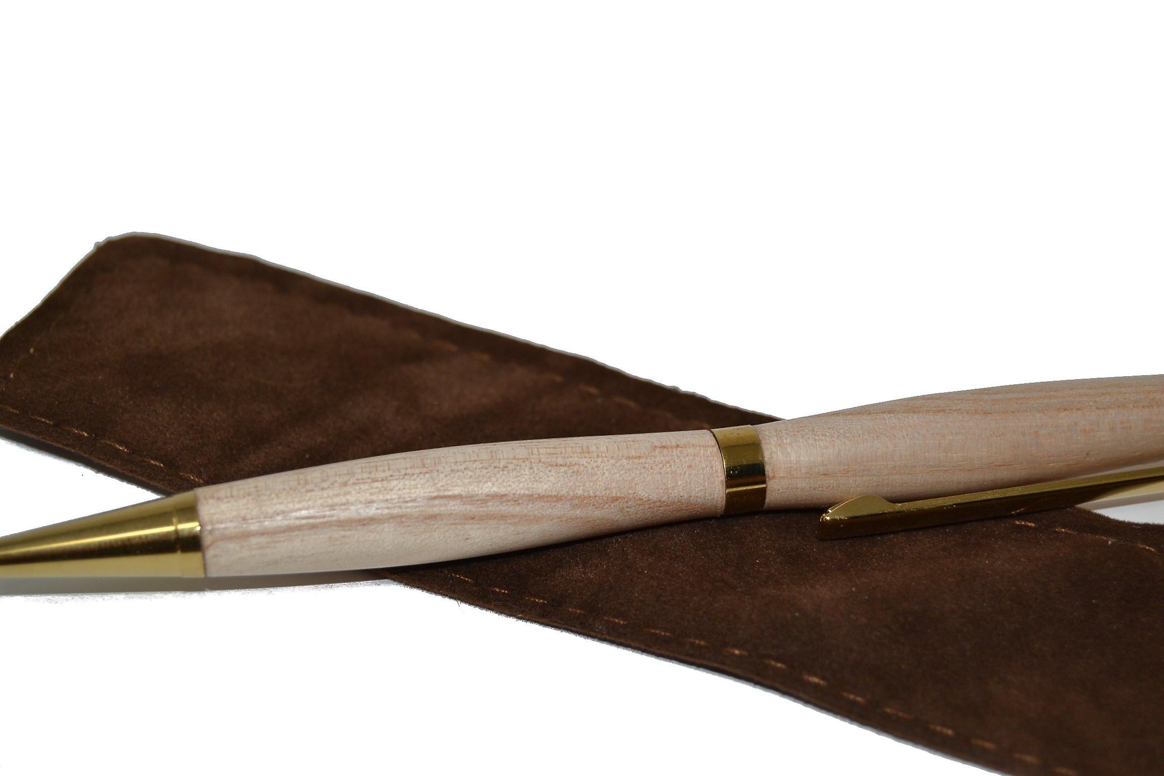 Holz Dreh Kugelschreiber schwarz  Pawlownia Handarbeit Kugelschreiber  Made in Austria