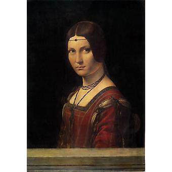 Portrait of a Lady at the Court, Leonardo Da Vinci, 63x45cm