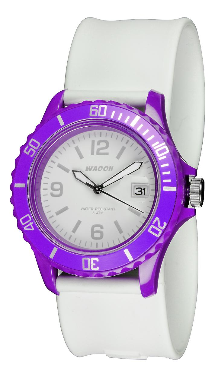 Waooh Watch - white Roller - Case & bezel color