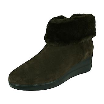 Geox D Stardust C Womens Suede Ankle Boots - Coffee