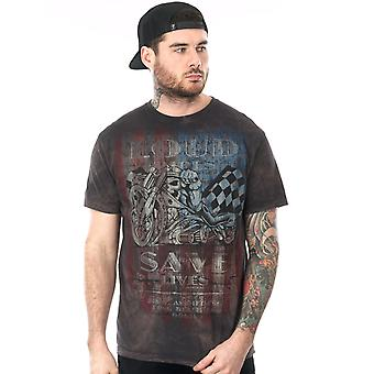 West Coast Choppers Washed-Black USA Loud Pipe T-Shirt