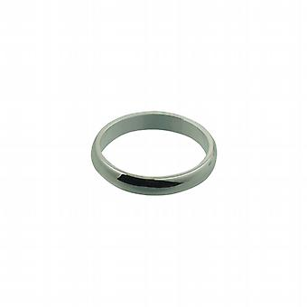 Silver 4mm plain D shaped Wedding Ring Size Z