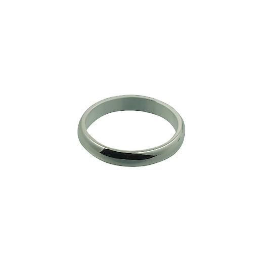 Silver 4mm plain D shaped Wedding Ring Size S