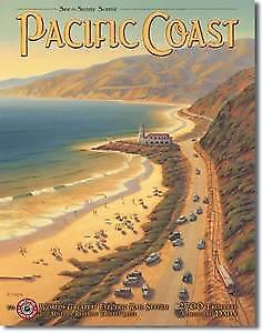 Pacific Coast (USA) Metal Sign