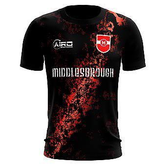 2019-2020 Middlesbrough trzecie koszuli piłki nożnej koncepcja