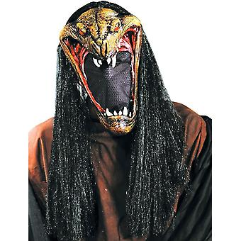 Viper Mask With Net Face For Halloween