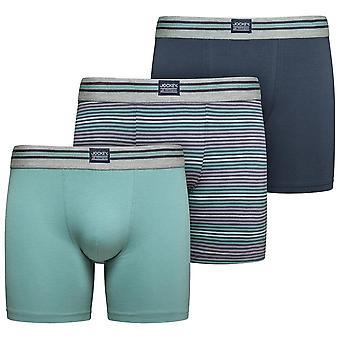 Jockey Cotton Stretch 3-Pack Boxer Trunks, Mineral Blue / Navy / Stripe, X-Large