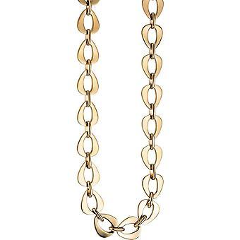 Ketting ketting edelstaal goud kleur gecoat 46 cm ketting