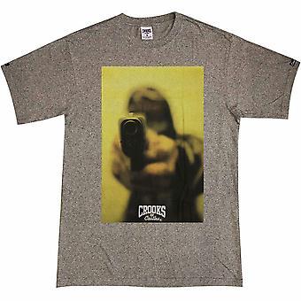Ladrones y castillos camiseta punto negro de la gota