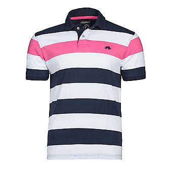 Contrast Stripe Polo - Vivid Pink