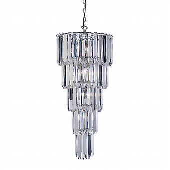 Endon 61123  Strasberg Chrome and Clear Acrylic Ceiling Chandelier