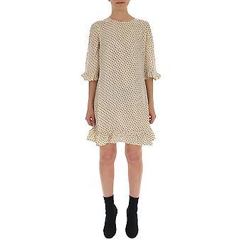 Ganni Beige Cotton Dress