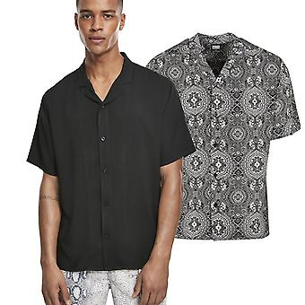 Urban Classics-Viscose Resort Summer Shirt Shirt