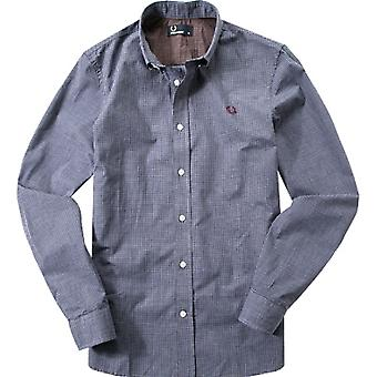 Fred Perry Men's Micro Marl Gingham Long Sleeve Shirt - M7296-458