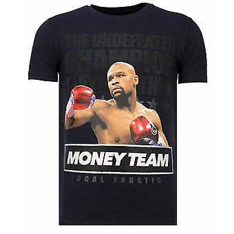 Money Team Champ-Rhinestone T-shirt-Navy