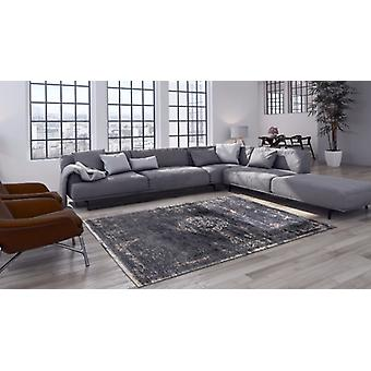 Fading World Mineral Black Shades of black, grey and hints of ivory Rectangle Rugs Modern Rugs