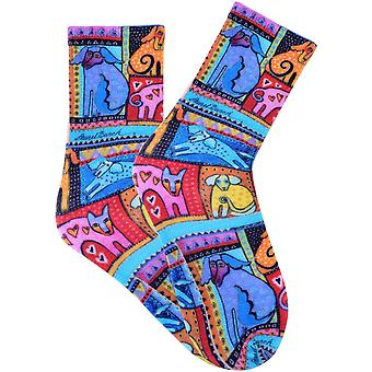 Laurel Burch Socks-Colorful Dogs - Red SOCKS3-51RED