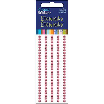 Crystal Stickers Elements 3Mm Round 125 Pkg Light Pink Cs3mm 1665