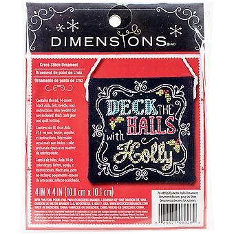 Deck The Halls Ornament Counted Cross Stitch Kit 4