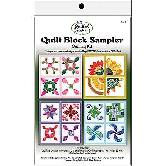 Quilling Kit Quilt Block Sampler Q418