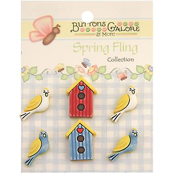 Spring Buttons Birds Of A Feather Sf 107