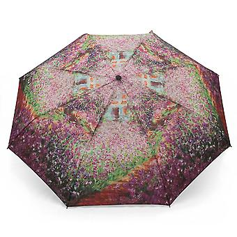Umbrella automatic Pocket umbrella motif Claude Monet summer garden