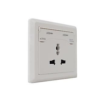 I LumoS White 3 Pin Multi Plug Socket & USB Phone Charger Single Wall Socket