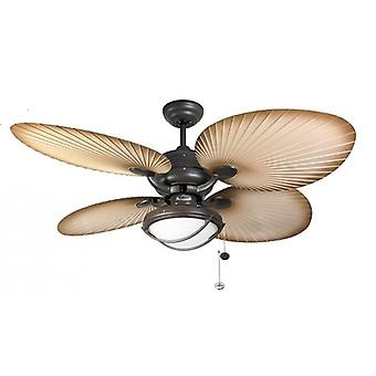 Outdoor Ceiling Fan Palm Chocolate Brown with light 132 cm / 52""
