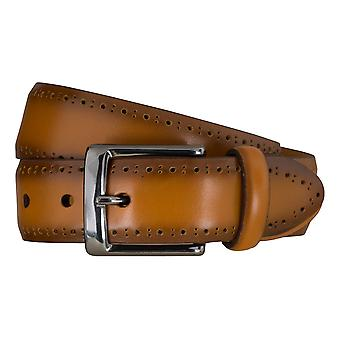 SAKLANI & FRIESE belts men's belts leather belt camel 5115