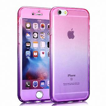 Crystal case cover for Samsung Galaxy S7 Pink Purple frame full body