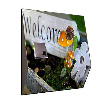 Wireless flowerbed stainless steel ring door bell front door bell chime