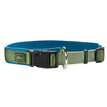 Hunter Neopren Vario Plus 45 Nylon Collar Green/petrol Blue 20mm X 40-45cm