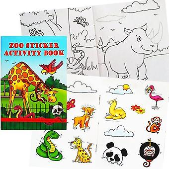Zoo animal sticker activity book