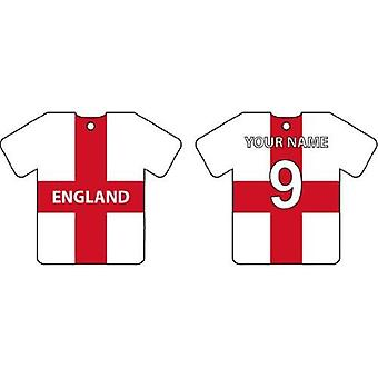 Personalised England Flag Jersey Car Air Freshener