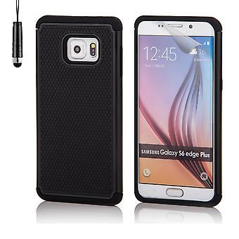 Shock proof fallet för Samsung Galaxy S6 Edge + (S6 Edge Plus) inklusive penna - svart