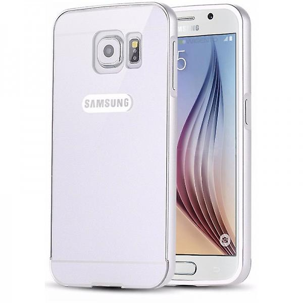 Aluminium bumper 2 pieces with cover silver for Samsung Galaxy S6 G920 G920F