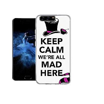 Capa Keep calm we are all mad here para Huawei P10 Plus